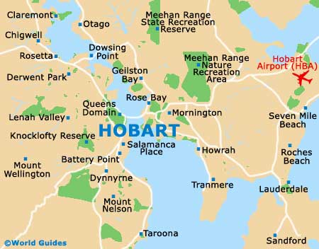Small Hobart Map