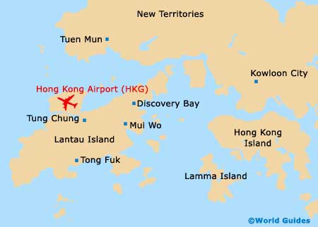 Hong Kong International Airport (HKG) Maps: Location Map and Orientation