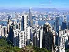 Aerial photo of skyline