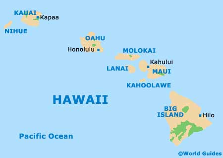 Hawaii HI map
