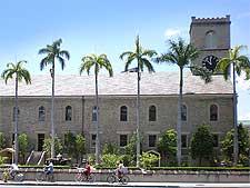 Image of St. Kawaiahao Church in Honolulu - side view