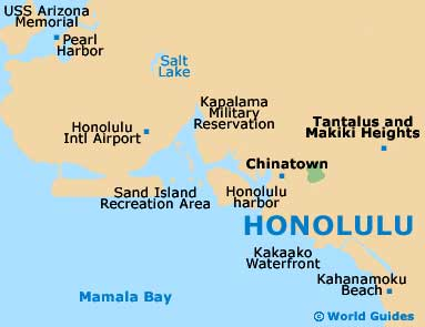 Small Honolulu Map