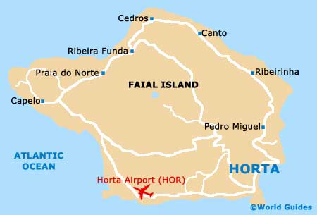 Map Of Horta Airport HOR Orientation And Maps For HOR Horta Airport - Portugal map airports