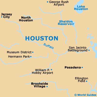 Map Of Houston William P Hobby Airport HOU Orientation