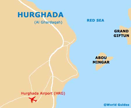 Hurghada Maps And Orientation Hurghada Red Sea Egypt - Map of egypt red sea area