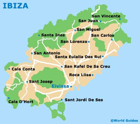 Ibiza Orientation Layout and Orientation around Ibiza Spain