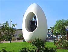 Photo of the famous Egg of Columbus, located in Sant Antoni de Portmany, image by Hans Bernhard