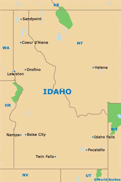 Idaho ID State Map