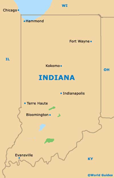 Indiana IN State Map