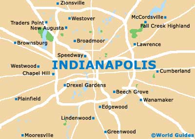 Small Indianapolis Map