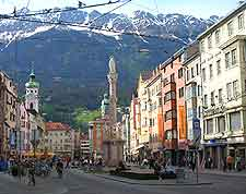 Innsbruck City in the city centre