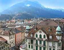 Bird's eye picture of Interlaken city centre