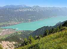 Aerial view of Lake Brienz (Brienzer See / Brienzersee)