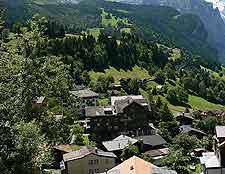 Photograph of mountain village