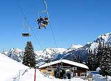 Image showing skiing, snow and winter sports at Interlaken, Switzerland