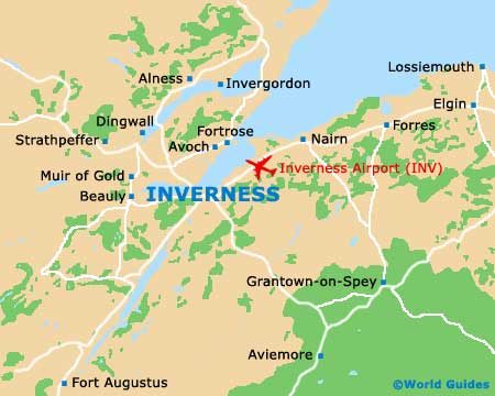 Small Inverness Map