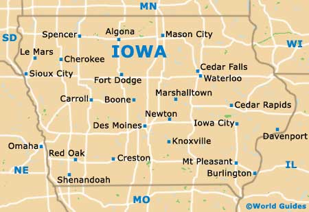 Des Moines Maps And Orientation Des Moines Iowa USA - Iowa on a us map