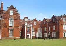 Close-up image of Christchurch Mansion and Park