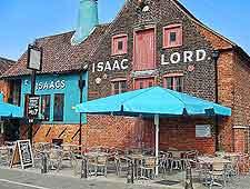 Picture of local pub, with al fresco tables
