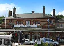 Photograph of the town's railway station