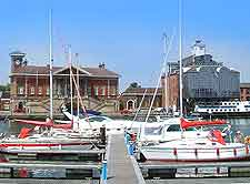 Different photo of the town's vibrant waterfront area