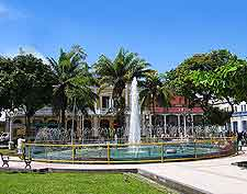 Photo showing central fountain