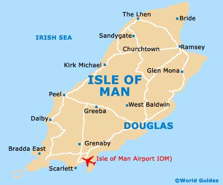 Map Of Isle Of Man Airport IOM Orientation And Maps For IOM - Isle of man map