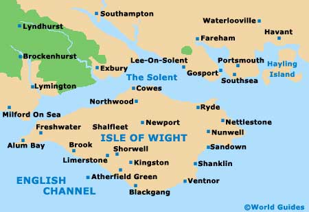 Small Isle of Wight Map