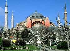 Photograph of the famous Hagia Sofia (Aya Sofya)