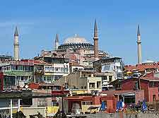 Further city view, showing the Hagia Sofia basilica