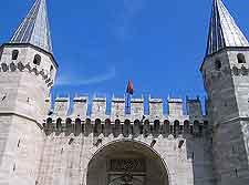 Topkapi Palace facade picture
