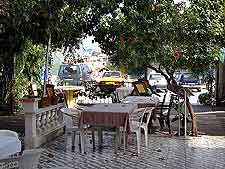 Image showing outdoor cafe tables and chairs