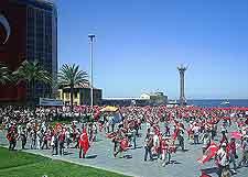 Photo of celebrating crowds