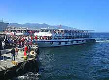 Photo of arriving ferry boat