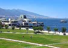Distant view of coastline and Konak Square