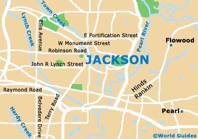 Jackson Maps And Orientation Jackson Mississippi MS USA - Map of south mississippi