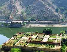 Aerial picture of the Amber Fort
