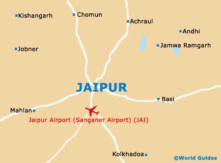 Small Jaipur Map
