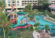 Picture of waterslides at the Ancol Dreamland (Taman Impian Jaya Ancol)