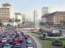 City highway image, showing peak traffic