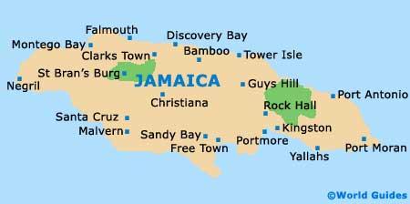 Jamaica tourism and tourist information information about jamaica map of jamaica gumiabroncs Choice Image