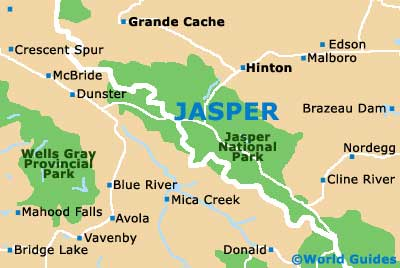 Jasper History Facts And Timeline Jasper Alberta AB Canada - Map of jasper oregon