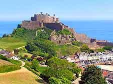 View of Mont Orgueil Castle
