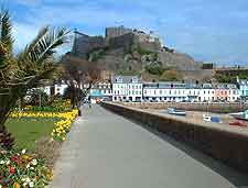 Jersey Airport (JER) Directions: Photo showing Mont Orgueil Castle