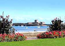 Scenic view of St. Aubin's Bay