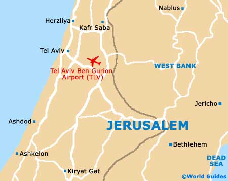 Jerusalem Travel Guide And Tourist Information Jerusalem District - Jerusalem map world