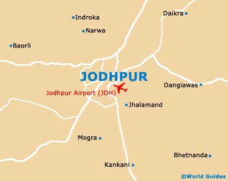 Small Jodhpur Map