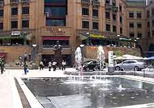Picture of fountains in Mandela Square