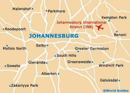 Small Johannesburg Map