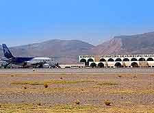 Close-up photo showing the Inca Manco Capac Airport (JUL)